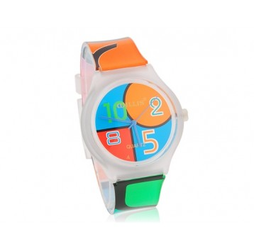 Willis Orologio analogico - movimento al quarzo - design multicolore