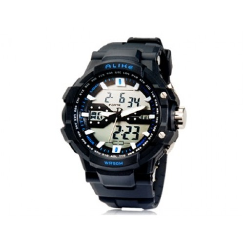 rivenditore all'ingrosso 7a939 711bd Alike 1282 Orologio analogico e digitale multifunzione - impermeabile fino  a 50m (blu)
